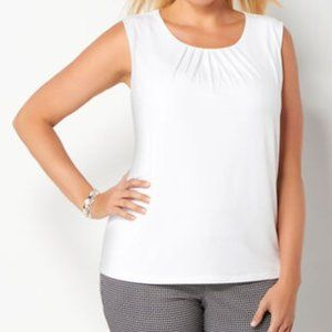 Christopher & Banks Pleated  Neck Tank